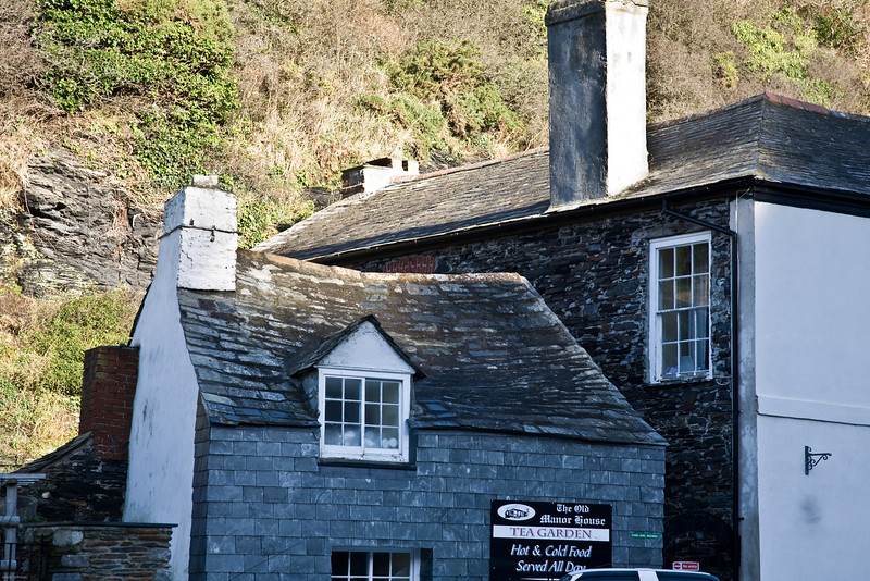 old house in the village of Boscastle