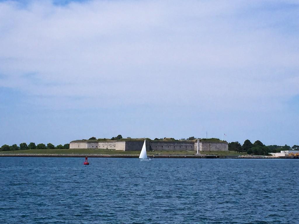 Castle Island from Boston Harbor