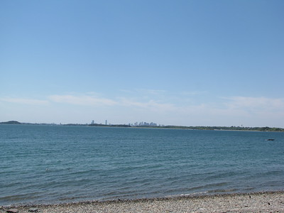 Boston skyline from Peddocks Island