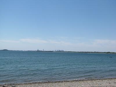 Boston skyline from Peddocks Island