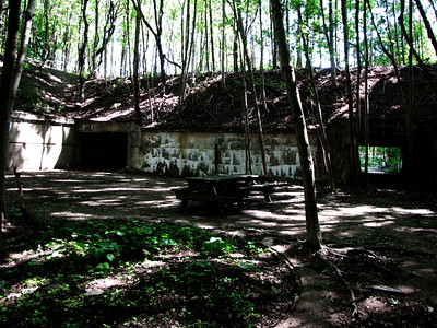 Fort Andrews Battery Whitman, the only battery currently accessible and cleared (mostly) of vegetation