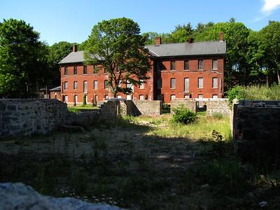 Fort Andrews administration building and enlisted men's barracks