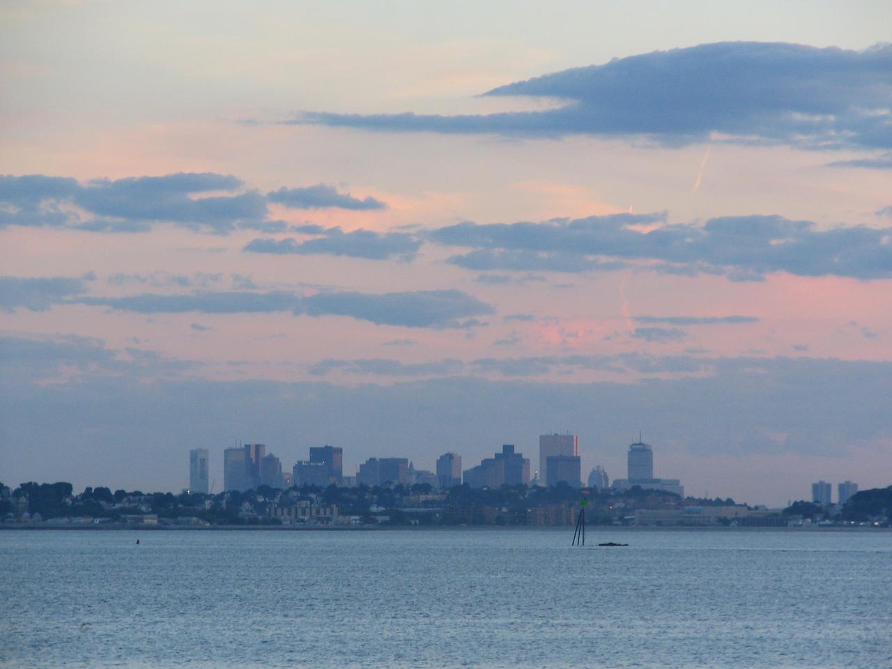 Boston skyline taken from Nahant Causeway