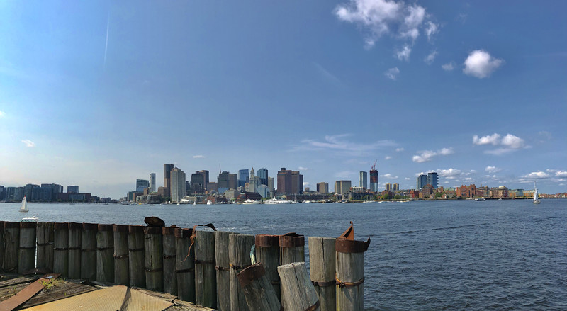 Boston skyline from the East Boston piers.