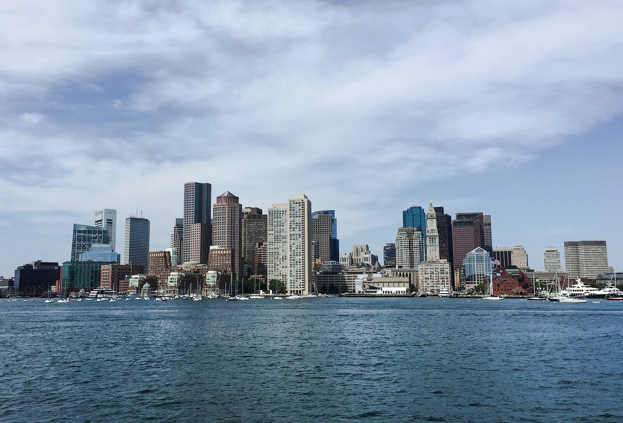 Boston skyline from the Harbor