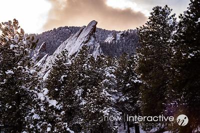Third Flatiron, Snow - Boulder, Colorado