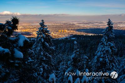 Sunset over Boulder from near the Third Flatiron