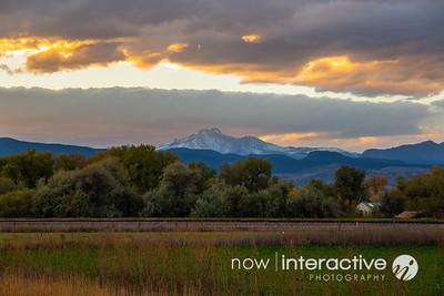 Longs Peak, Sunset. Longmont, Colorado