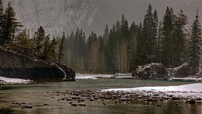 Bow River below Banff Springs Hotel