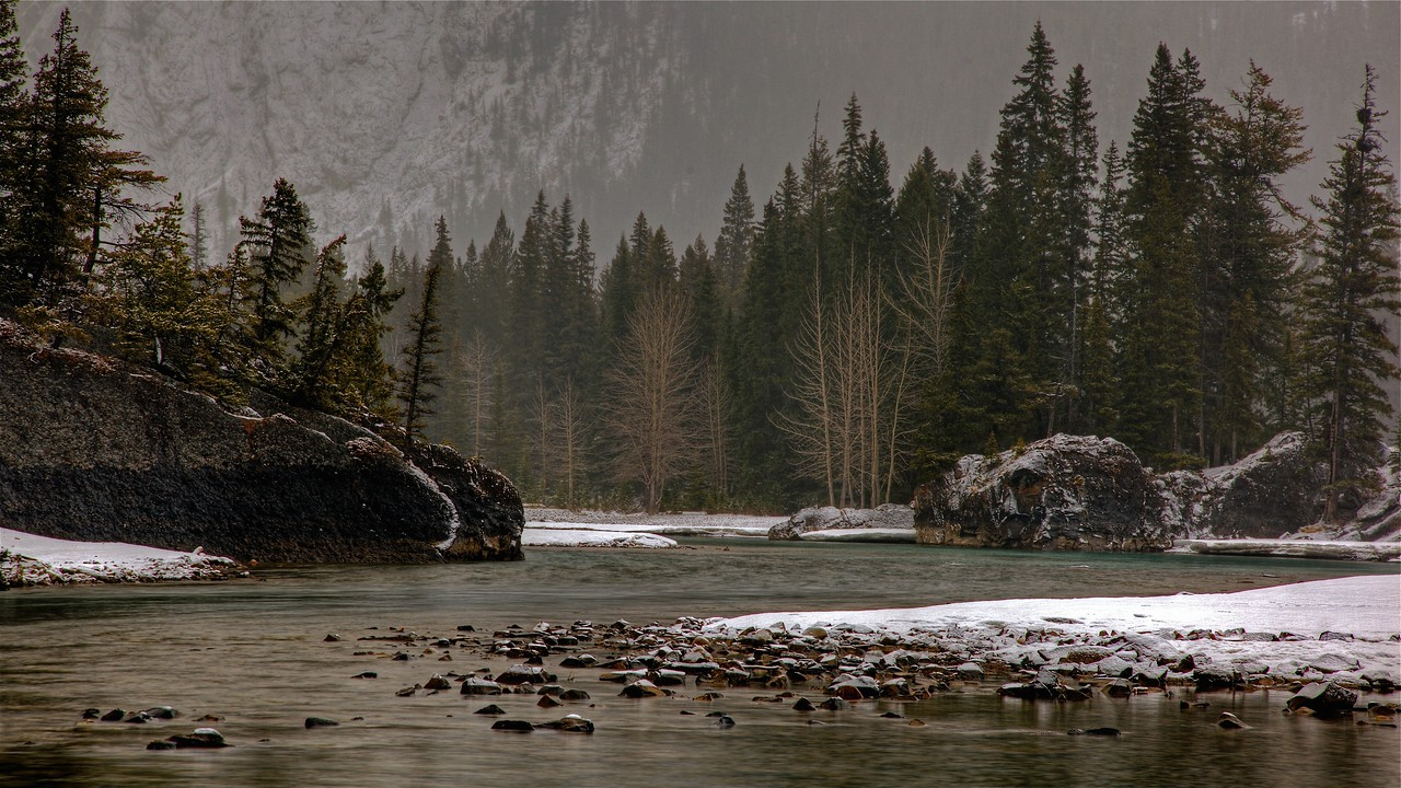 Bow River below Banff Springs Hotel
