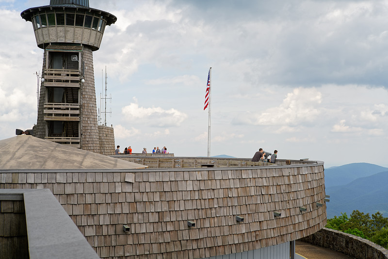 The upper observation deck