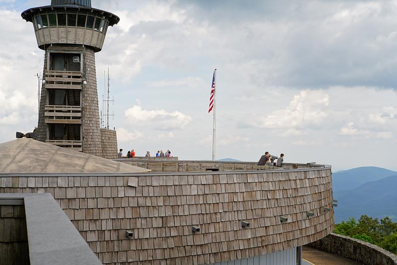 The upper observation deck
