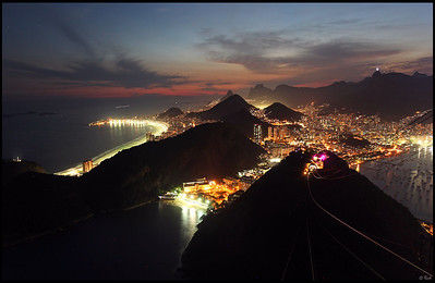 Skyline at night, Rio