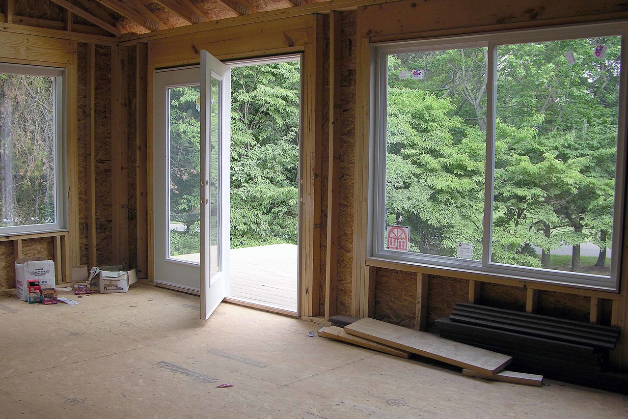 View from bedroom to sitting room