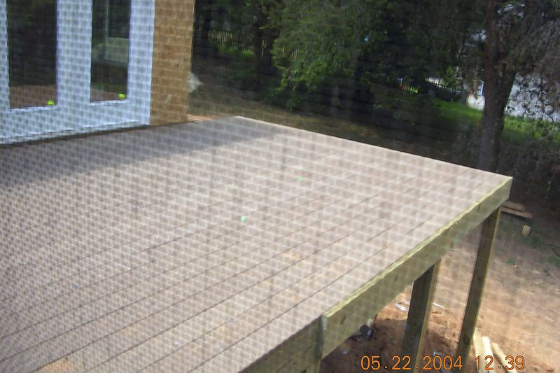 The new Trex deck viewed through the screened porch