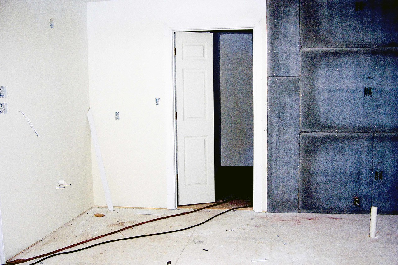 July 19 2004  Looking from bathroom towards Tim closet - new door opens half way from both sides