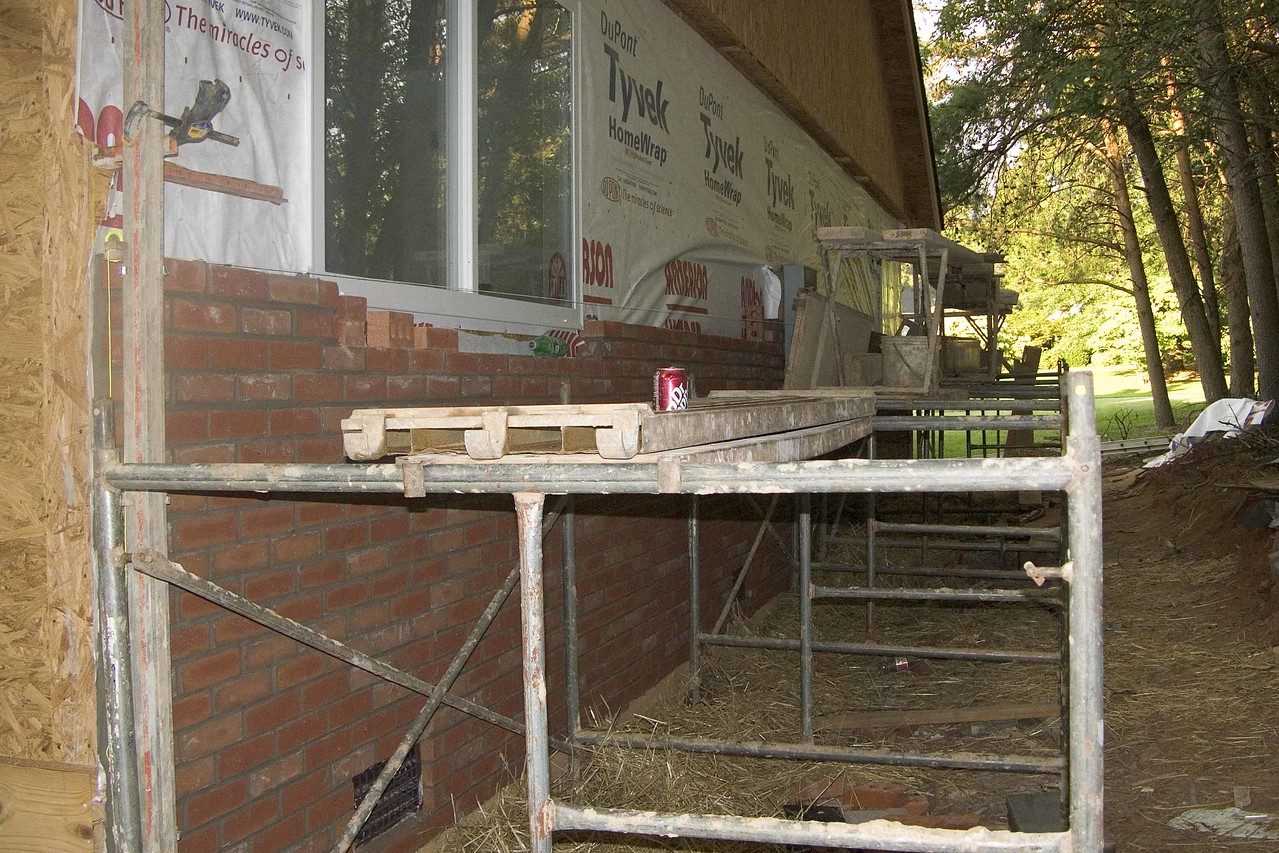 July 12 2004 Entire side of addition will be brick