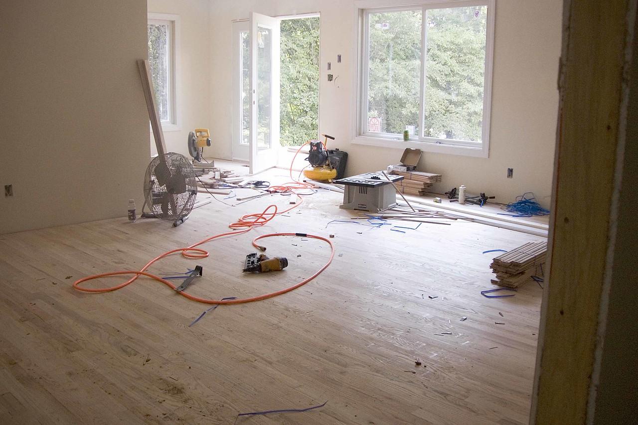 July 13 2004 Bedroom - hardwood floors near done