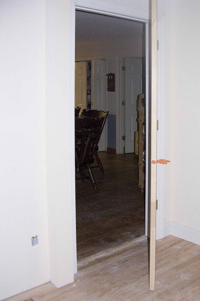 July 20 2004  Door put in today into kitchen