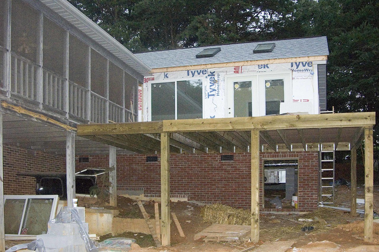 July 20 2004  Tyvek on side ready for siding to be put on tomorrow