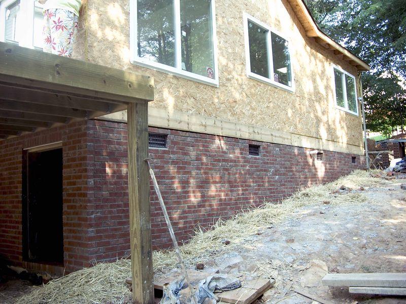 July 9 2004  More brick laying