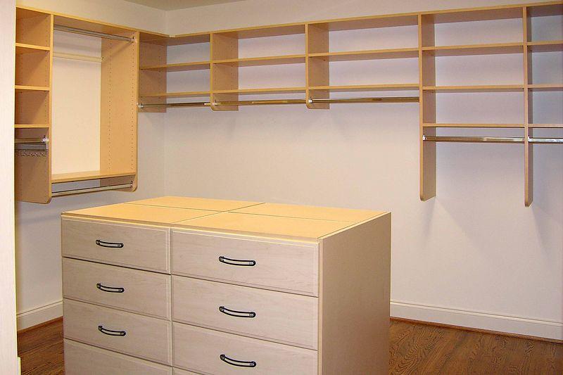 September 30 2004 Pat's closet - island chest in center