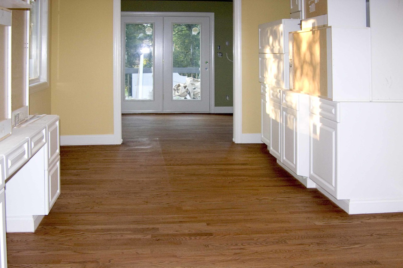 September 14 2004  Floors stained today