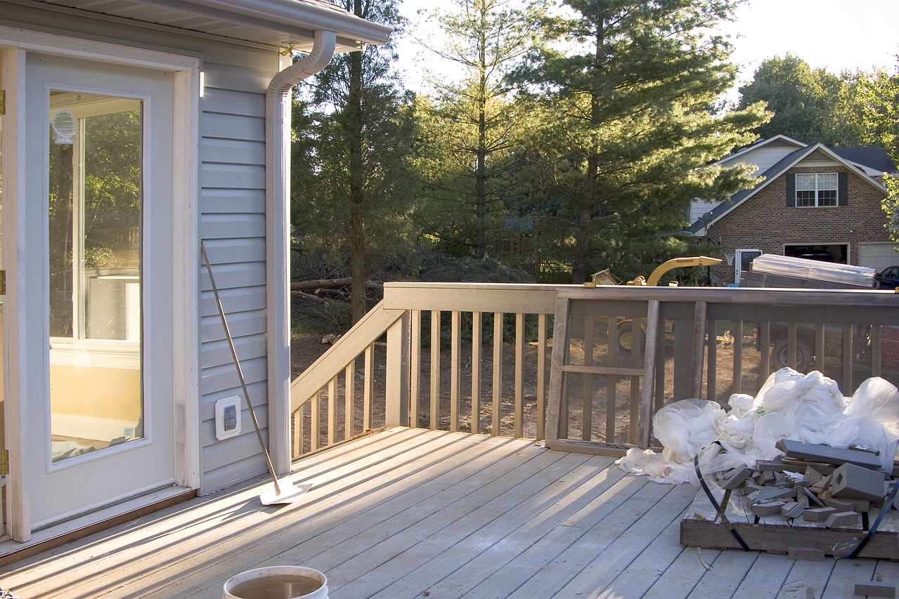 September 20 2004 View from the new deck with some trees removed