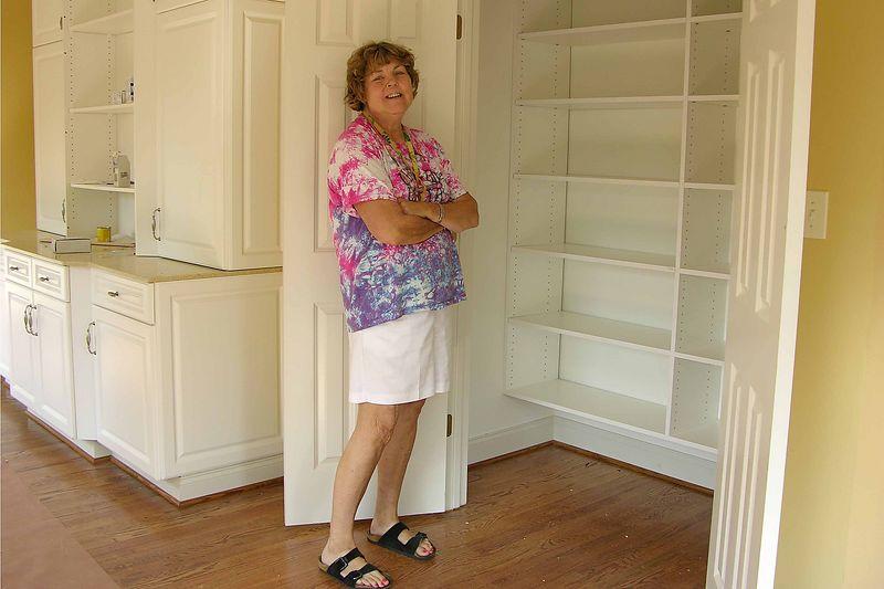 September 30 2004 Pat's sewing room closet