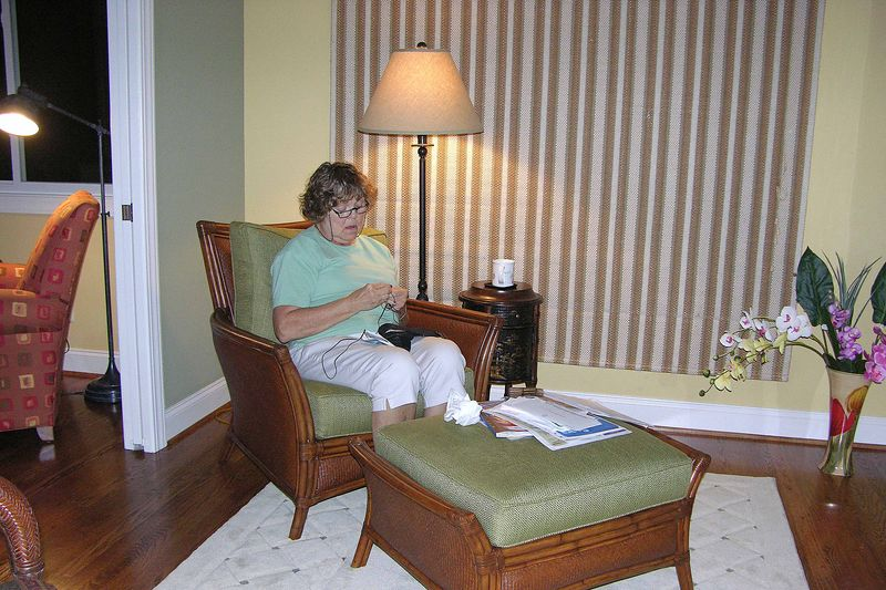October 14 2004  Pat in her new sitting room