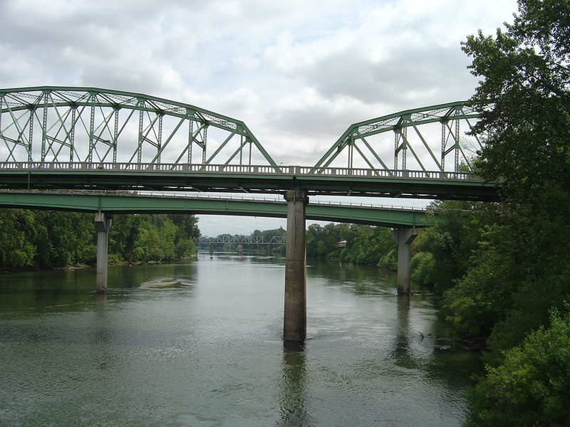 Bridges over Willamette River, Albany, Oregon