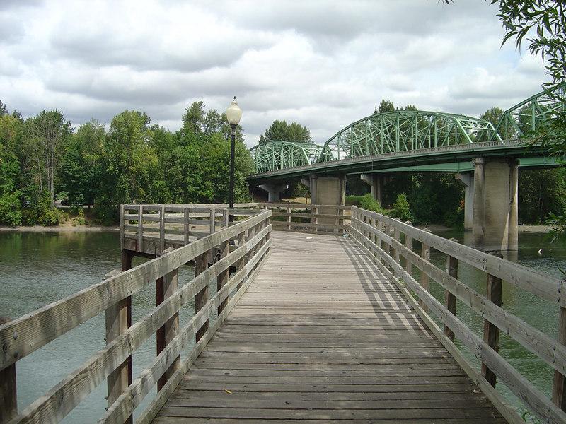 Bridges over Willamette River, Albany, Oregon