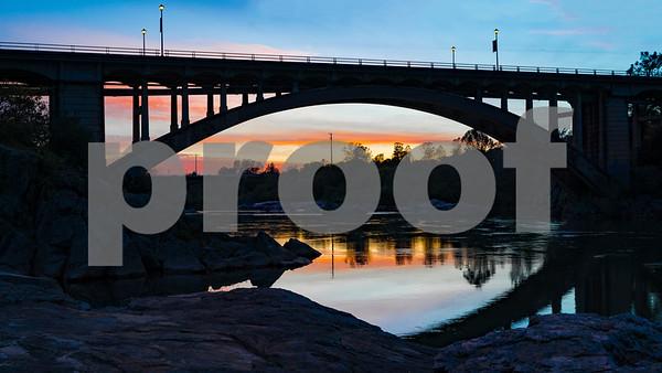 Sunset Rainbow Bridge Folsom CA