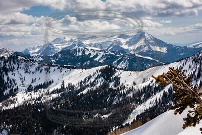 Mt. Timpanogos, which backs Utah Valley, the valley below the Salt Lake valley.