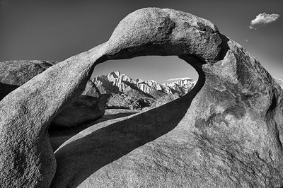 Mt. Whitney and Lone Pine Peak through the Arch