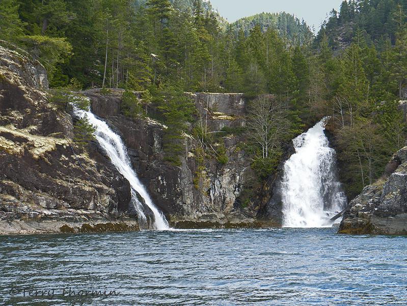 Twin Waterfalls, Cortez Island