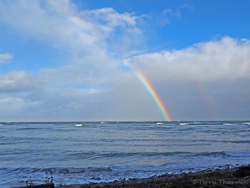 Double rainbow at Kye Bay