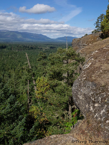 A view along the cliff face at Little Mountain