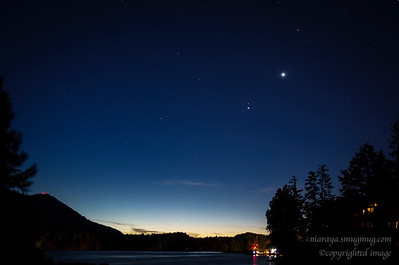 Night Sky, Water's Edge,  Ucluelet Inlet