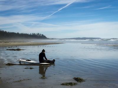 Surfer Wickaninnish Beach