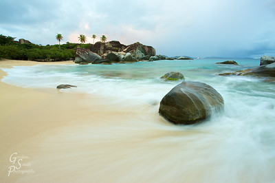 The Baths, on the Island of Virgin Gorda.  I got there very early to get this shot as the sky was just beginning to light up.