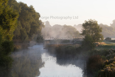 Misty Autumn Weir