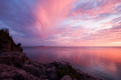 Grotto Sunrise Bruce Peninsula National Park