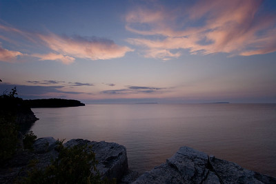 Sunset at The Grotto, Bruce Peninsula National Park, ON CA