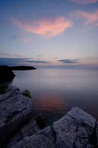 Sunset over Georgian Bay, Bruce Peninsula National Park, ON.
