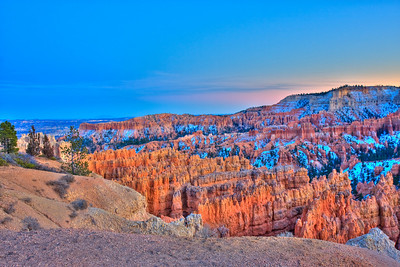 Bryce Canyon -Glorious dusk at Sunset point