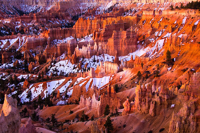 Sunrise at Bryce Canyon.
