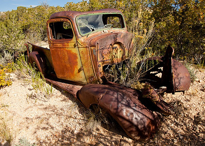 Old truck in the desert outside Tropic, UT
