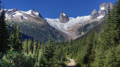 Approaching the Bugaboos - Late Spring