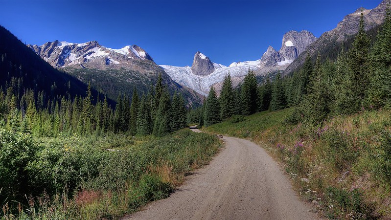Approaching the Bugaboos - Summer - BC